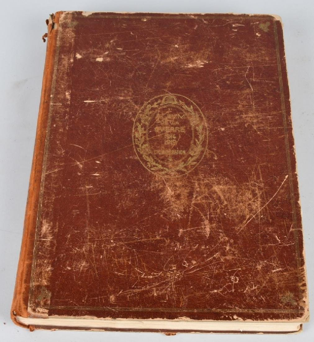 .WWI MASSIVE FRENCH BOOK ON HISTORY OF WWI