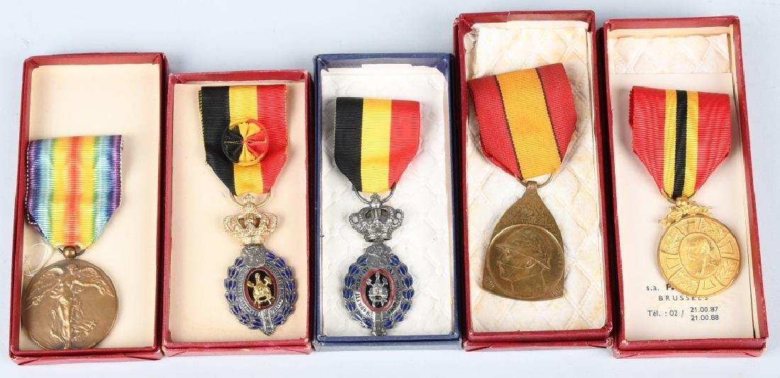 WWI BELGIAN MEDAL - ORDER LOT IN BOXES BELGIUM