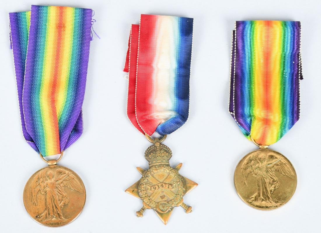 WWI BRITISH MEDAL LOT - 1914-15 STAR & VICTORY