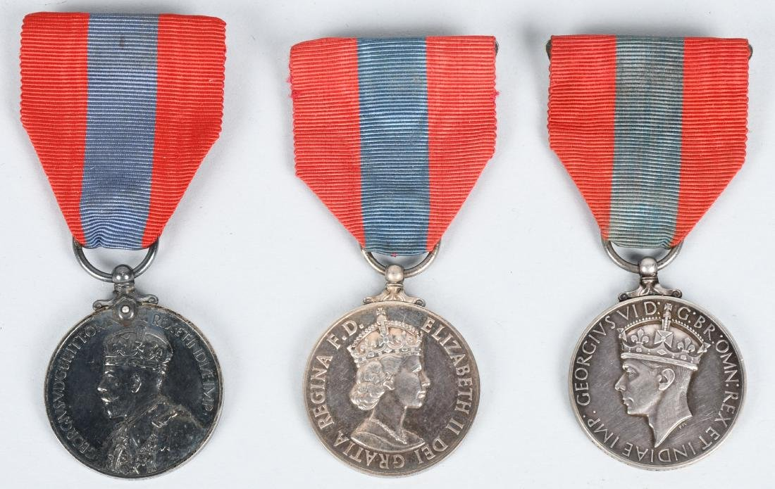 WWI & WWII & POST BRITISH FAITHFUL SERVICE MEDAL S