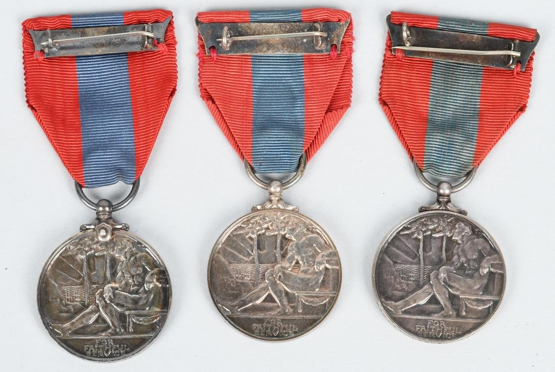 WWI & WWII & POST BRITISH FAITHFUL SERVICE MEDAL S - 5