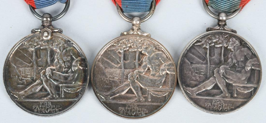 WWI & WWII & POST BRITISH FAITHFUL SERVICE MEDAL S - 6