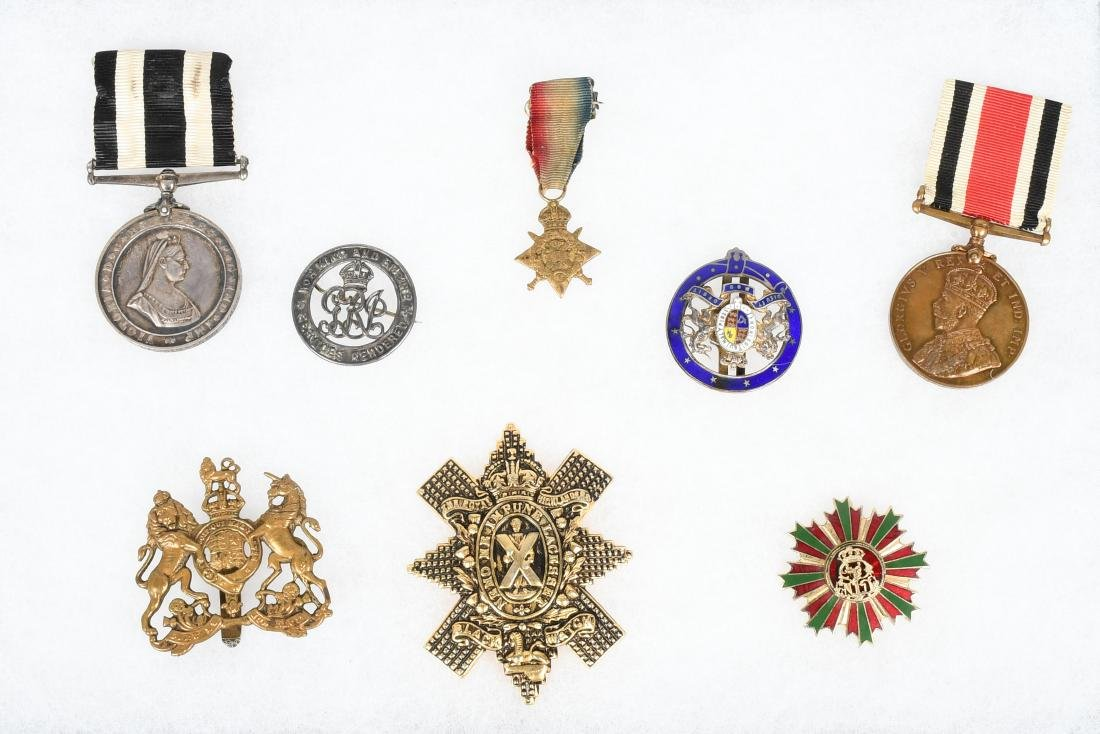 WWI - WW2 BRITISH MEDAL & INSIGNIA LOT