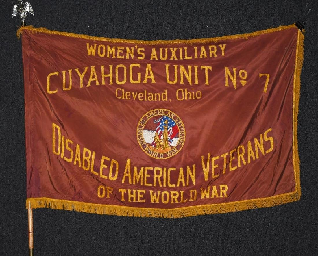 WWI CLEVELAND OHIO AMERICAN DISABLED VETERANS FLAG
