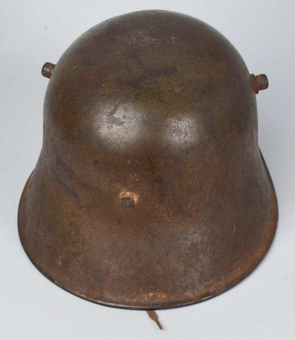 IMPERIAL GERMAN WWI M-18 COMBAT TRENCH HELMET - 3