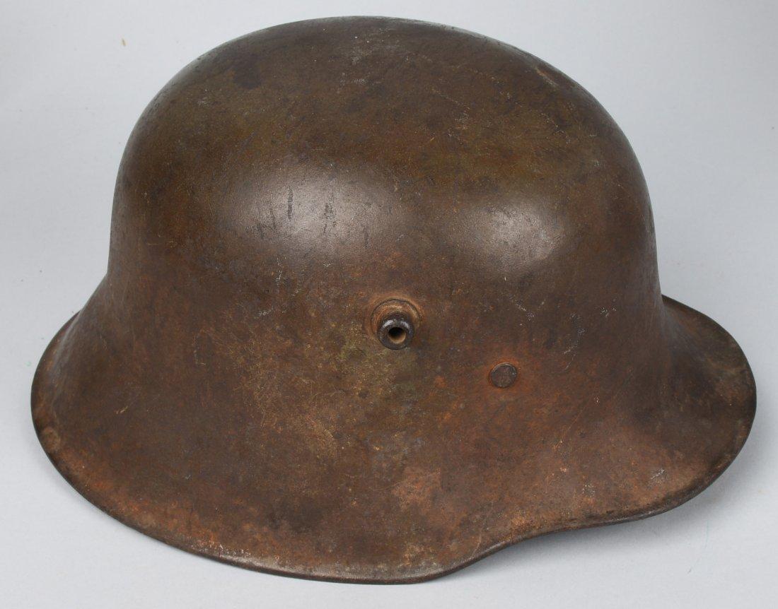 IMPERIAL GERMAN WWI M-18 COMBAT TRENCH HELMET - 4