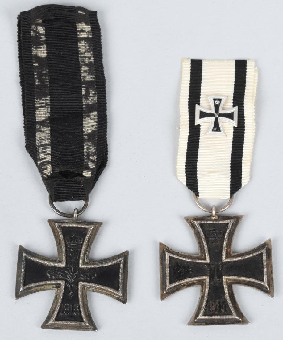 2- IMPERIAL GERMAN WWI 2ND CLASS IRON CROSS