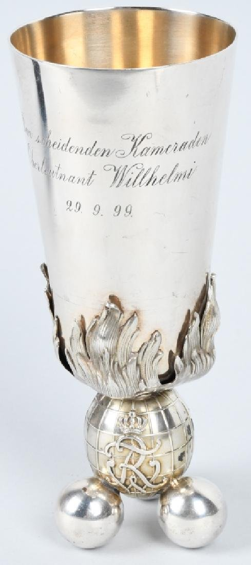 IMPERIAL GERMAN INSCRIBED GOBLET - KAISER WILHEM I
