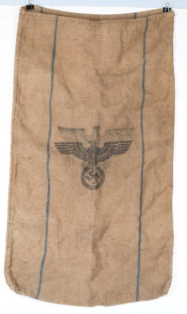 WWII NAZI GERMAN BURLAP HOT PROVISIONS BAG