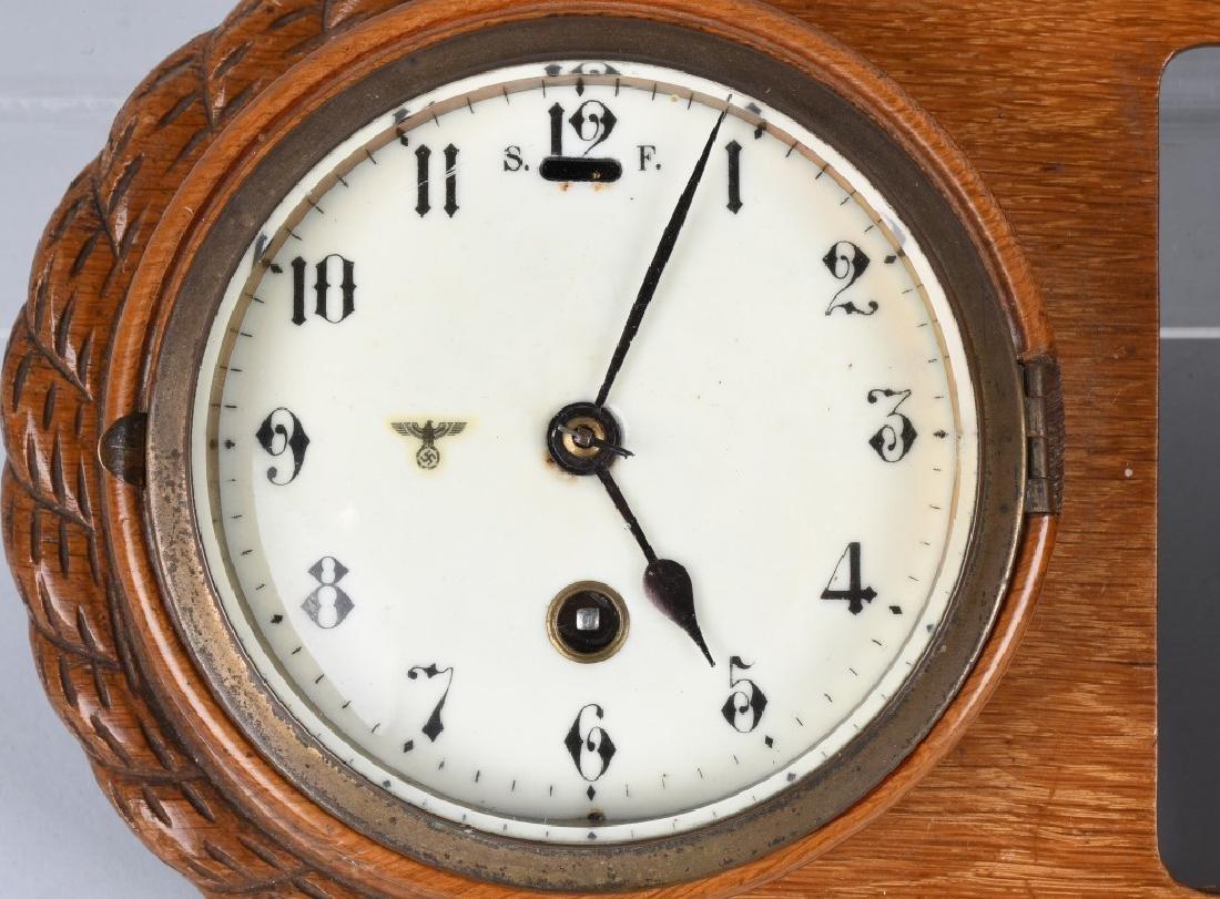 WWII NAZI GERMAN WALL CLOCK AND BAROMETER - 2