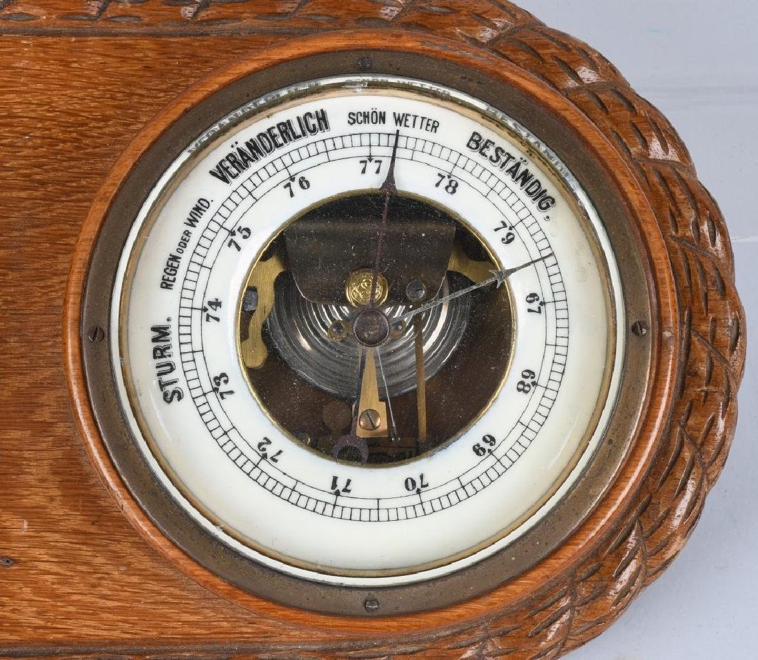 WWII NAZI GERMAN WALL CLOCK AND BAROMETER - 3