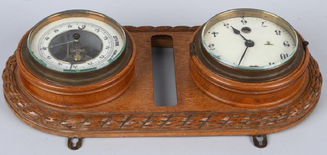 WWII NAZI GERMAN WALL CLOCK AND BAROMETER - 5