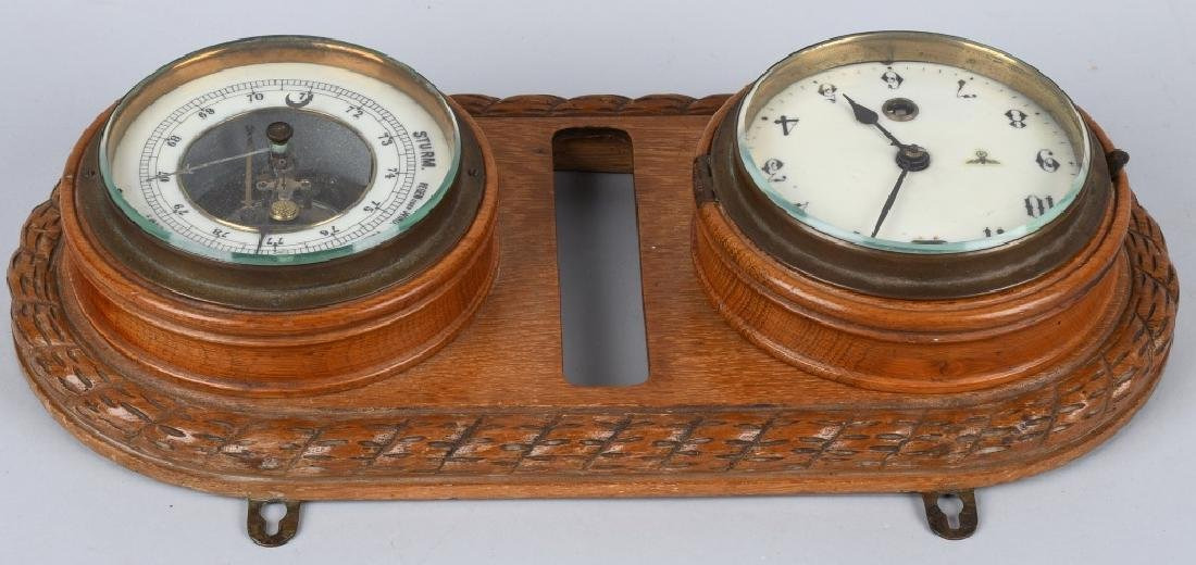 WWII NAZI GERMAN WALL CLOCK AND BAROMETER - 5
