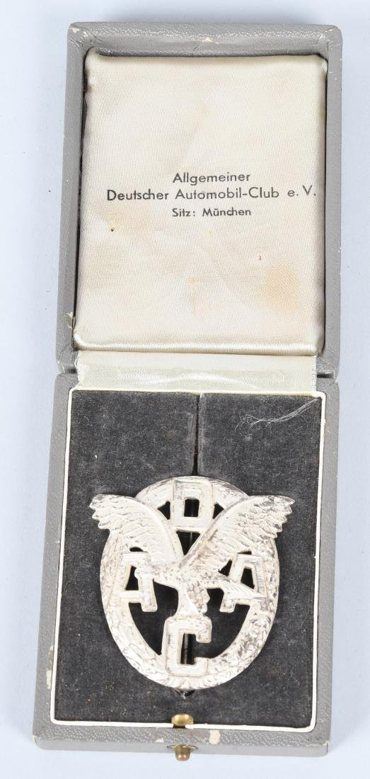 WWII GERMAN NAZI ERA CASED ADAC MOTOR SPORTS BADGE