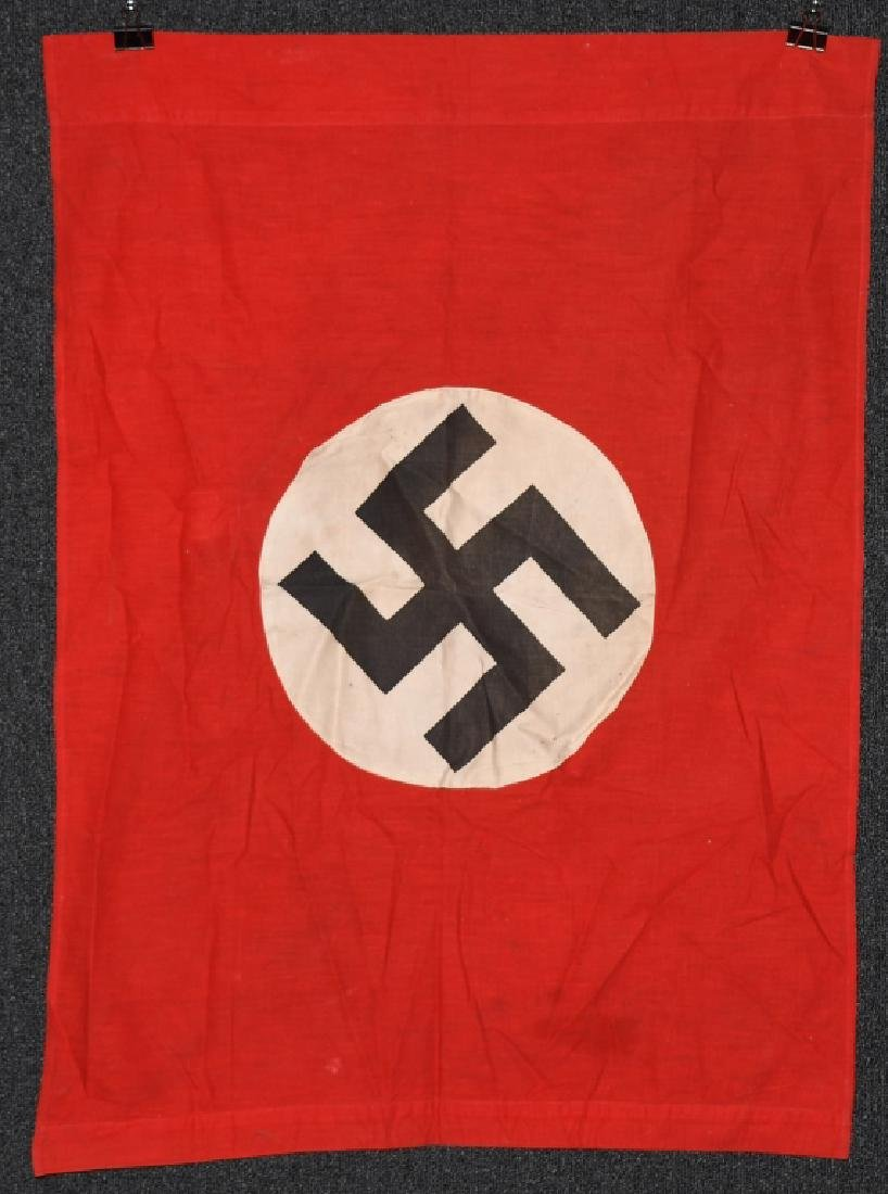 WWII NAZI GERMAN DOUBLE SIDED PODIUM BANNER