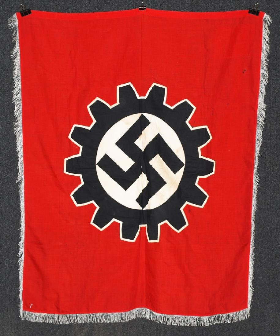 WWII NAZI GERMAN DAF FLAG WITH FRINGE