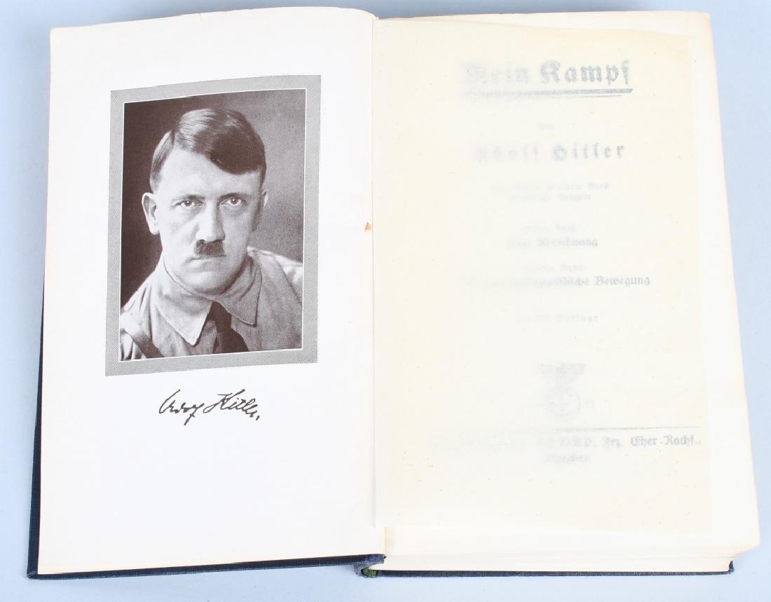 WWII NAZI GERMAN 1937 MEIN KAMPF - AMERICAN INSCR.