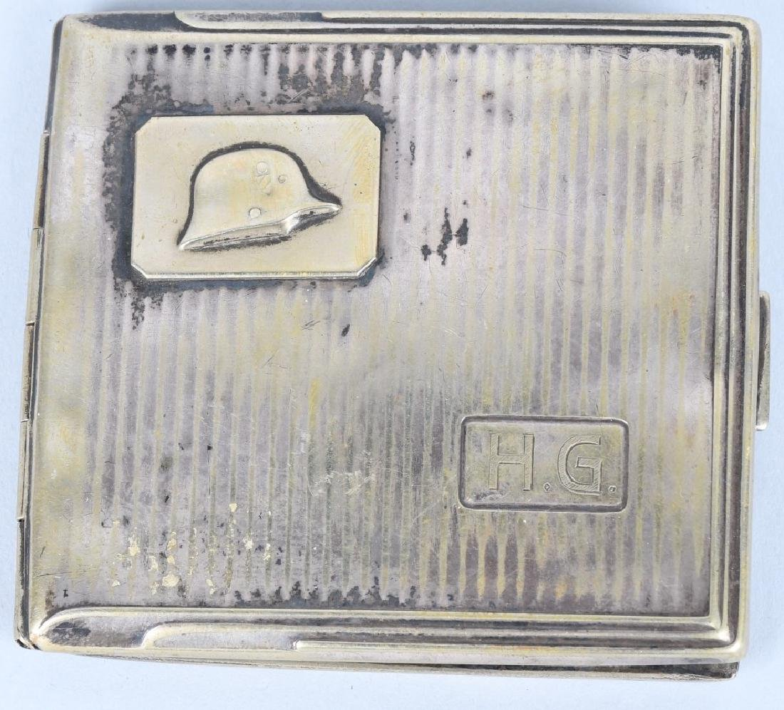 WWII NAZI GERMAN SILVER CIGARETTE CASE