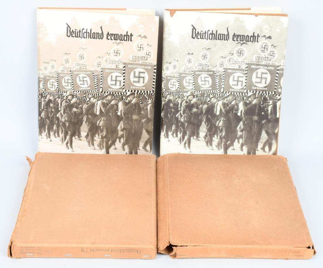 WWII NAZI CIGARETTE ALBUMS DEUTSCHLAND ERWACHT