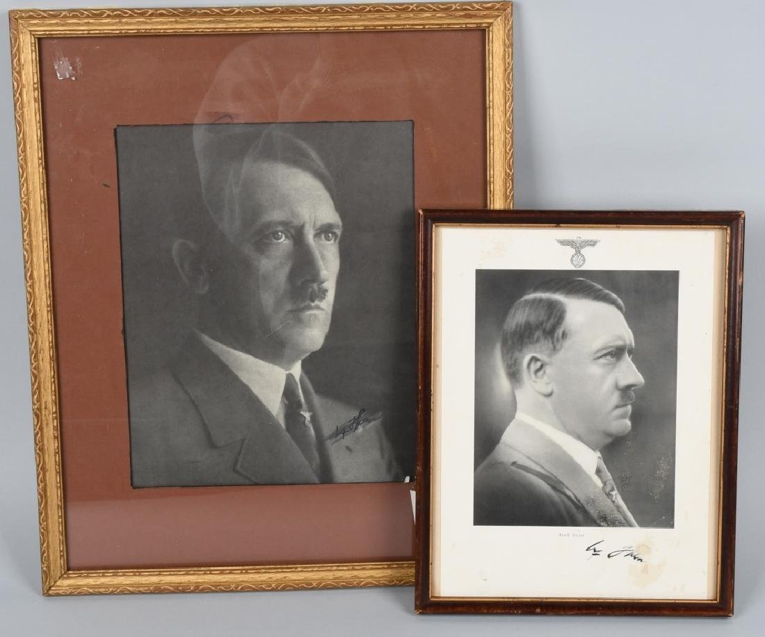 WWII NAZI GERMAN ADOLPH HITLER FRAMED PHOTOGRAPHS