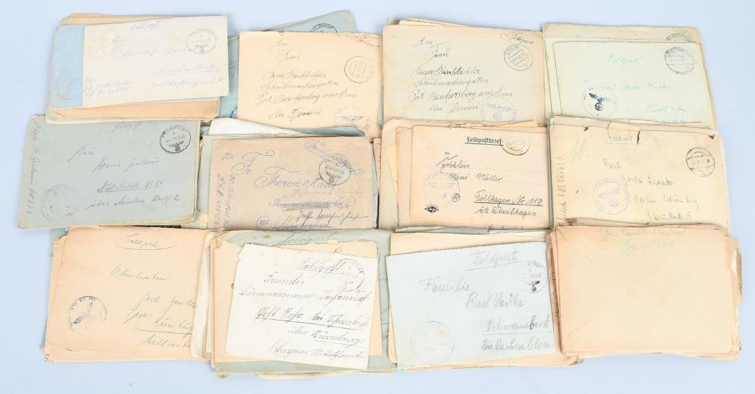 WWII NAZI GERMAN GROUP OF 74 FELDPOSTS - LETTERS