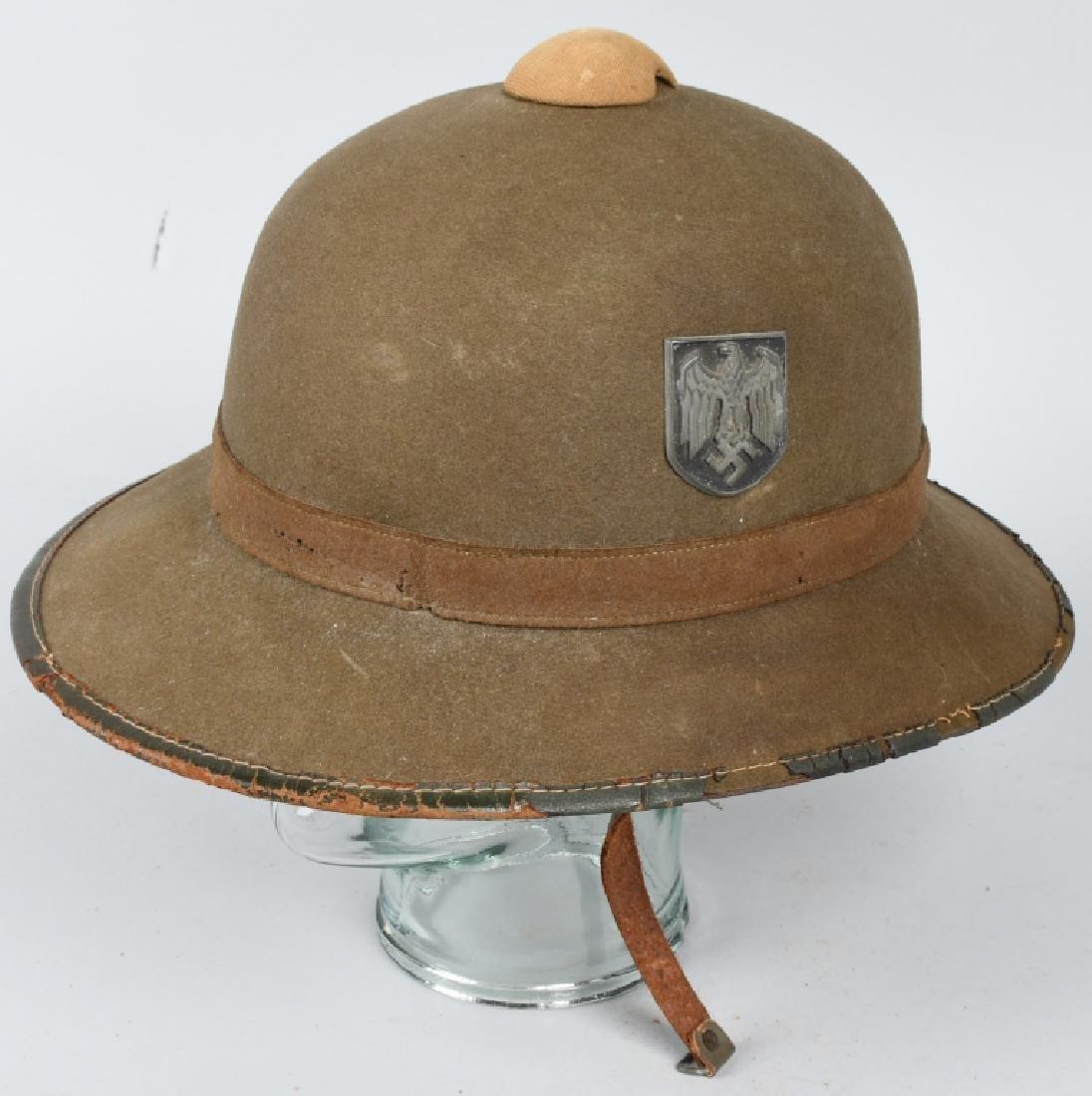 GERMAN NAZI WWII ARMY AFRIKA KORPS SUN PITH HELMET