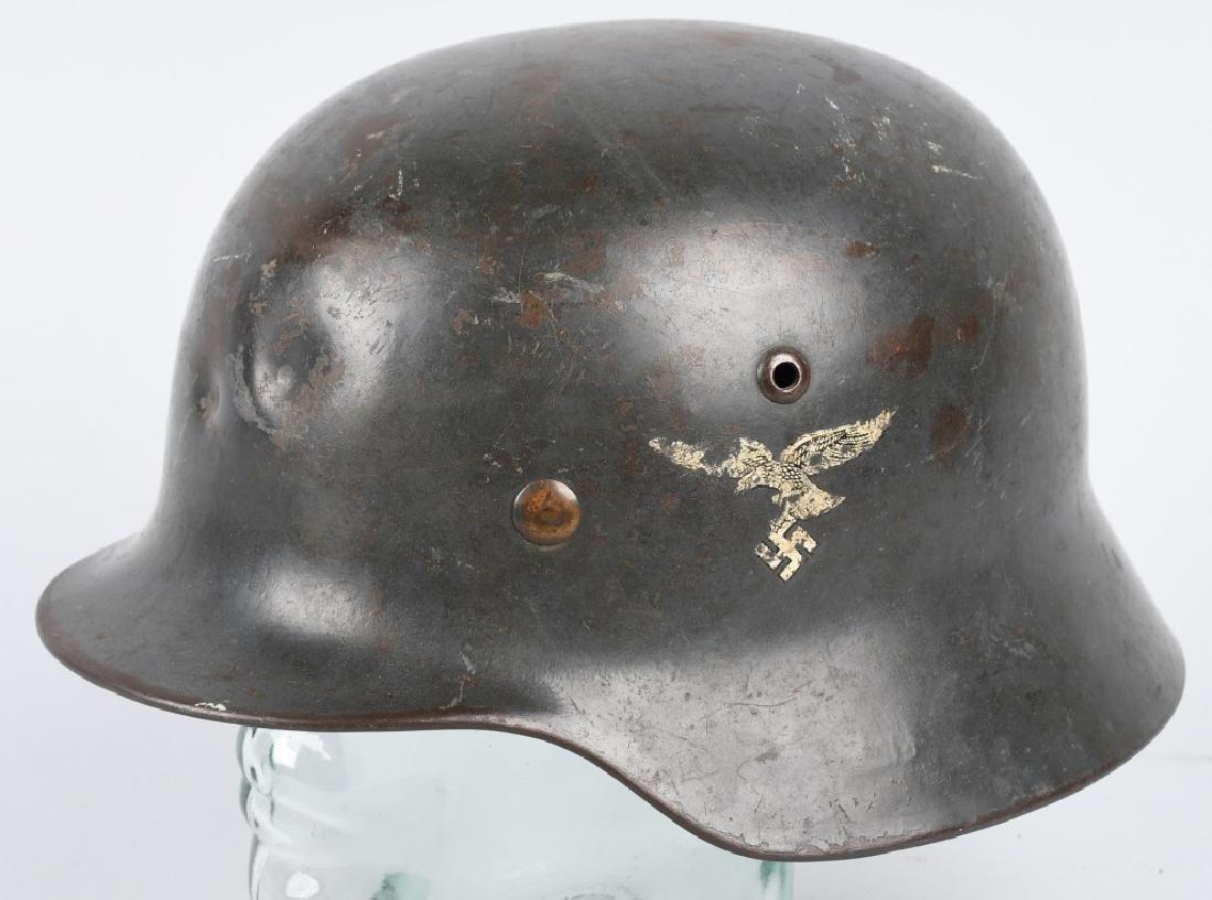 Nazi WWII LUFTWAFFE EARLY M-35 DOUBLE DECAL HELMET