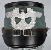WWII NAZI CITY POLICE NCO POLIZIE SHAKO HELMET