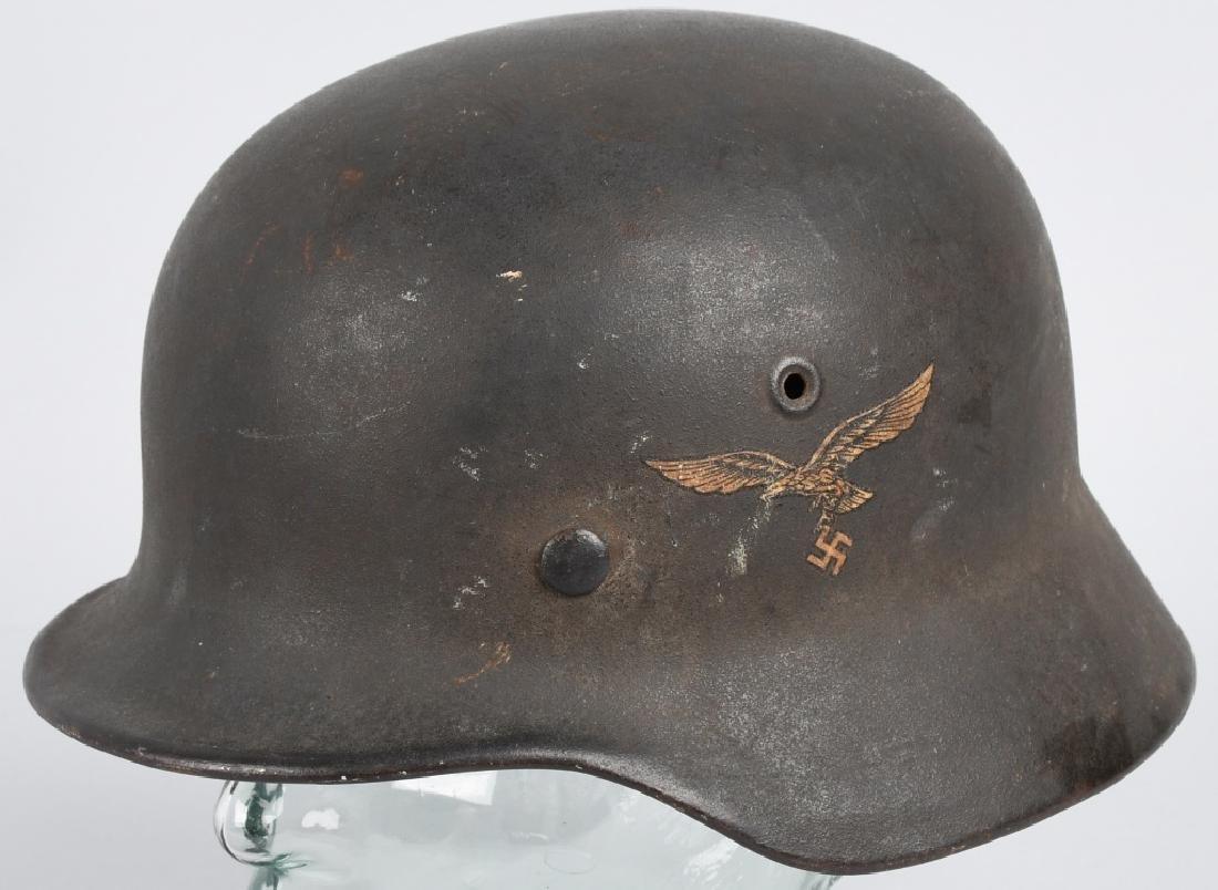 WWII LUFTWAFFE M-40 SINGLE DECAL COMBAT HELMET