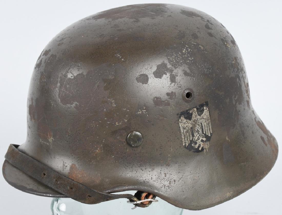 WWII NAZI GERMAN ARMY M-35 DOUBLE DECAL HEMET