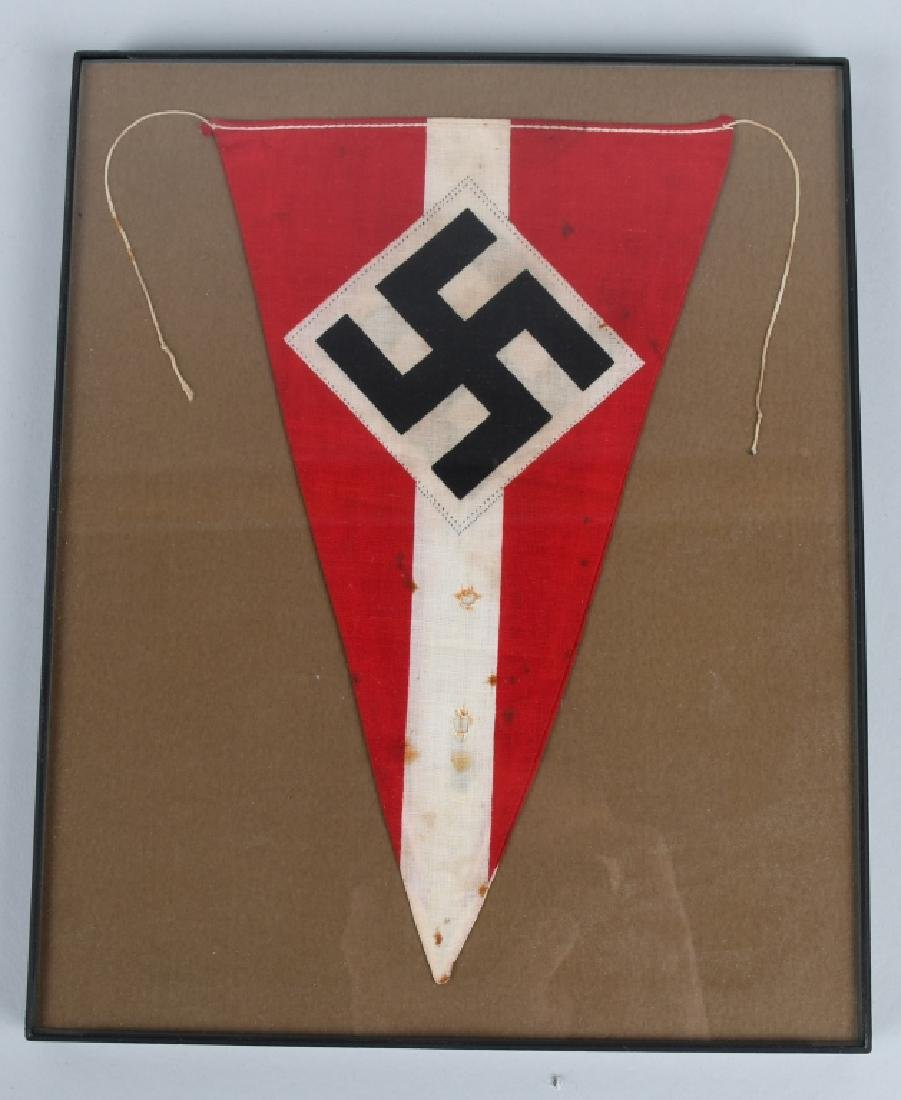 WWII NAZI GERMAN HITLER YOUTH HJ RALLY PENNANT