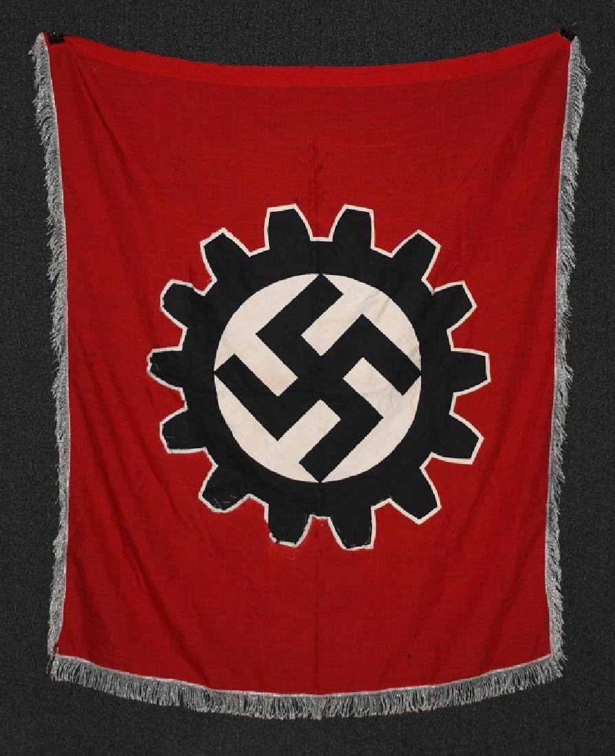 WWII NAZI GERMAN DAF BANNER FLAG