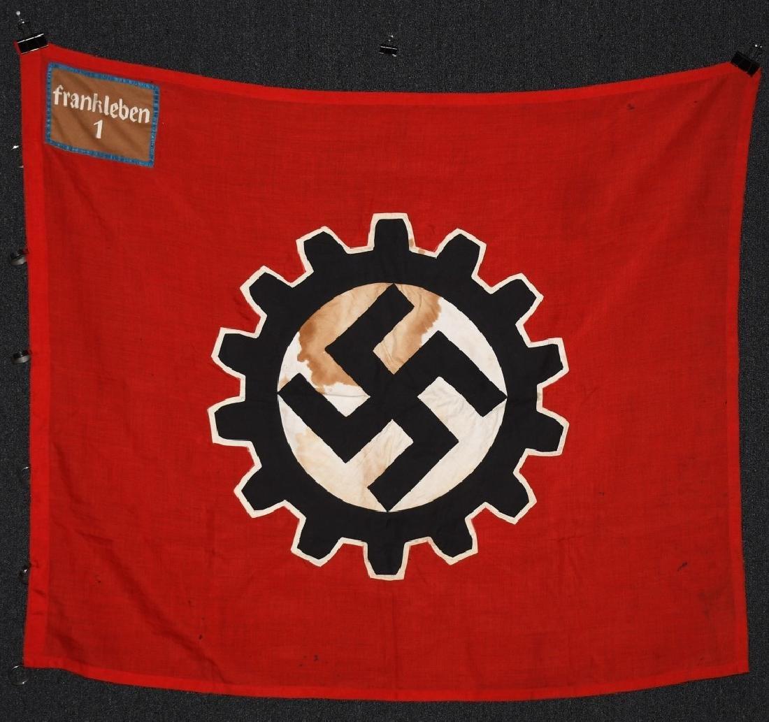 WWII NAZI GERMAN DAF BANNER FLAG