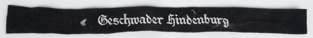 WWII NAZI GESCHWADER HINDENBURG OFFICER CUFFTITLE
