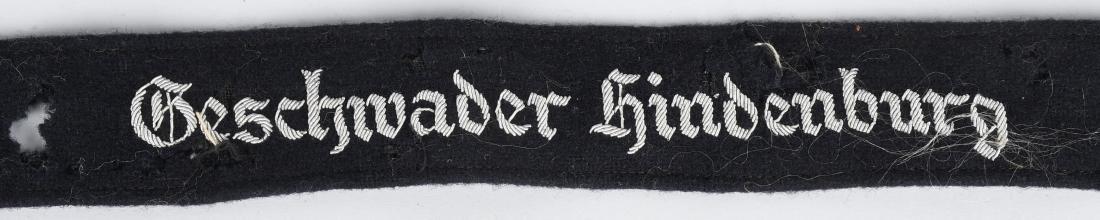 WWII NAZI GESCHWADER HINDENBURG OFFICER CUFFTITLE - 2