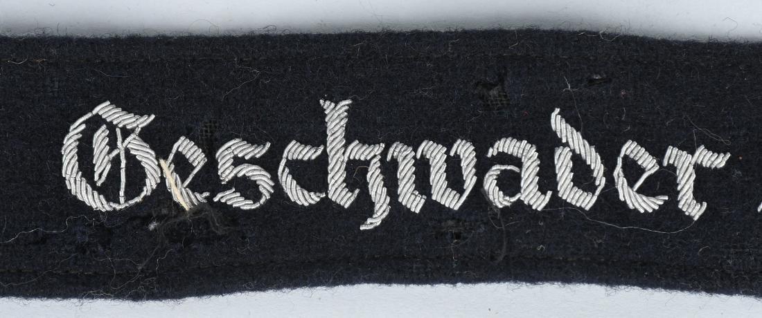 WWII NAZI GESCHWADER HINDENBURG OFFICER CUFFTITLE - 3