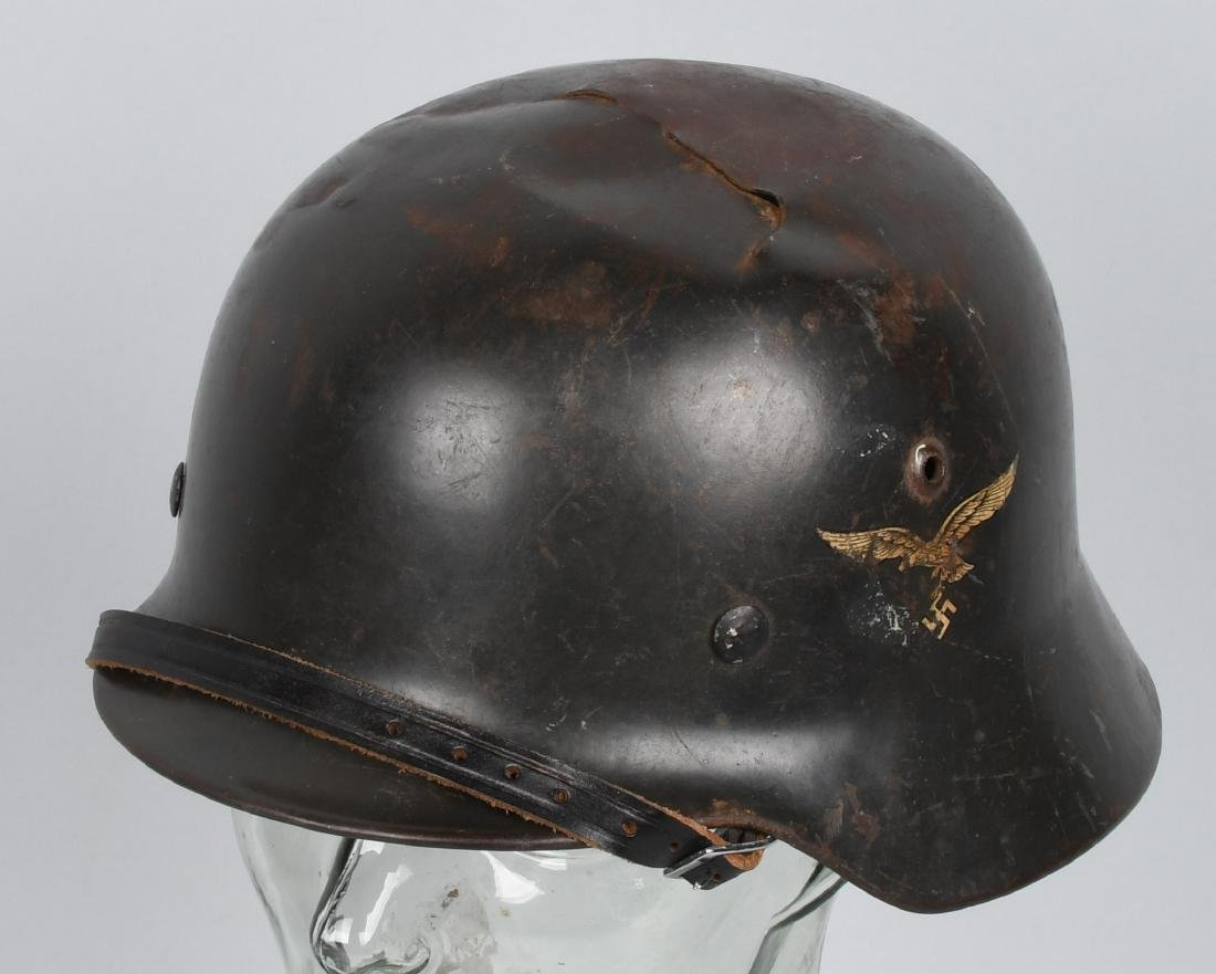 WWII NAZI GERMAN M35 SINGLE DECAL LUFTWAFFE HELMET
