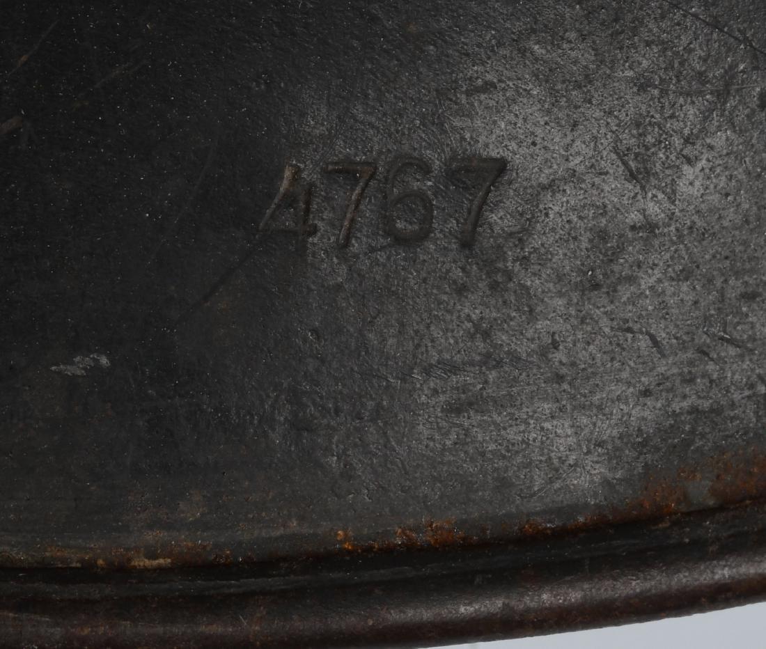 WWII NAZI GERMAN M35 SINGLE DECAL LUFTWAFFE HELMET - 7