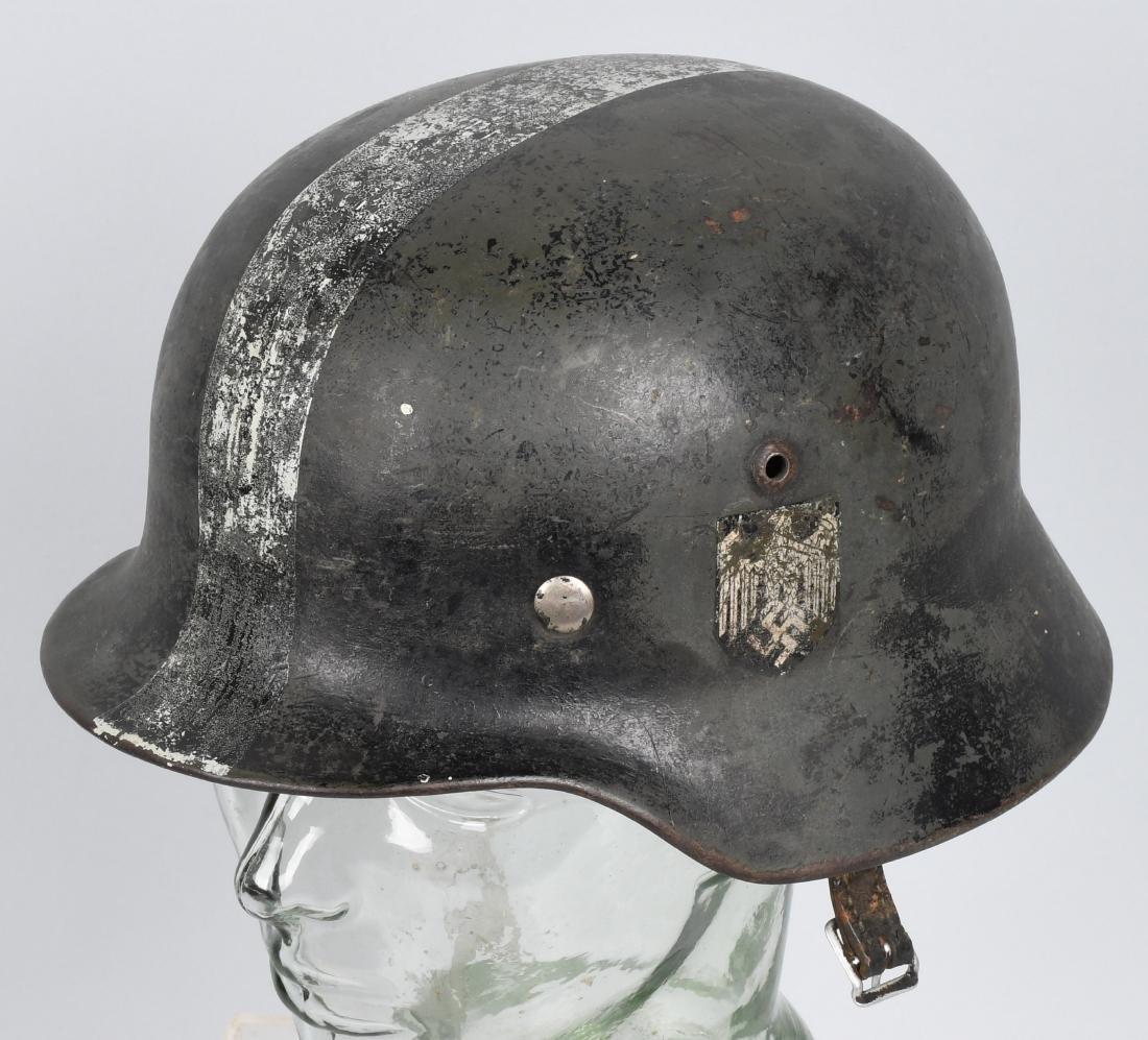WWII NAZI GERMAN M 35 SINGLE DECAL ARMY HELMET