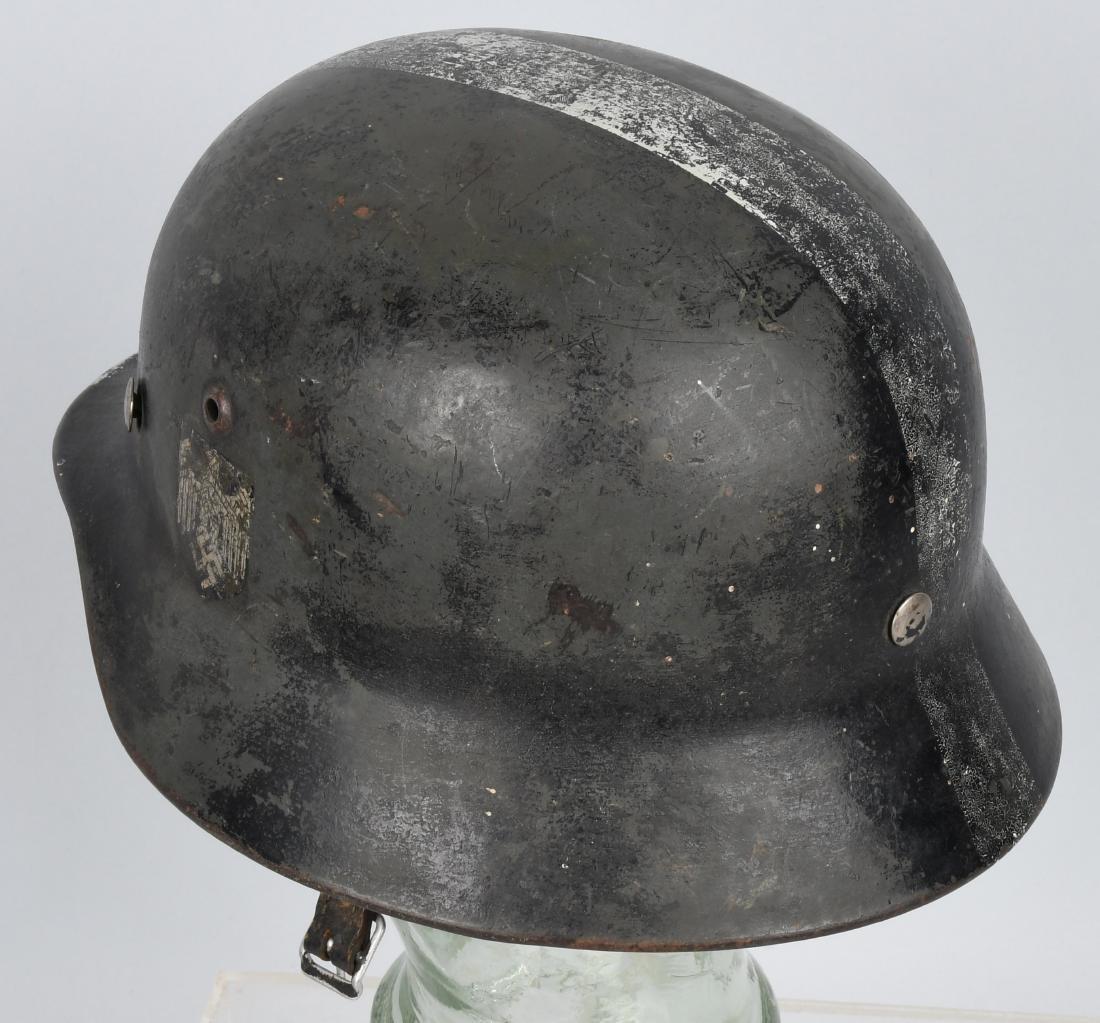 WWII NAZI GERMAN M 35 SINGLE DECAL ARMY HELMET - 2