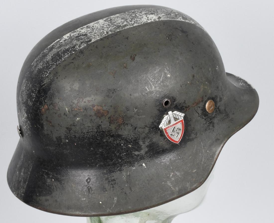 WWII NAZI GERMAN M 35 SINGLE DECAL ARMY HELMET - 3
