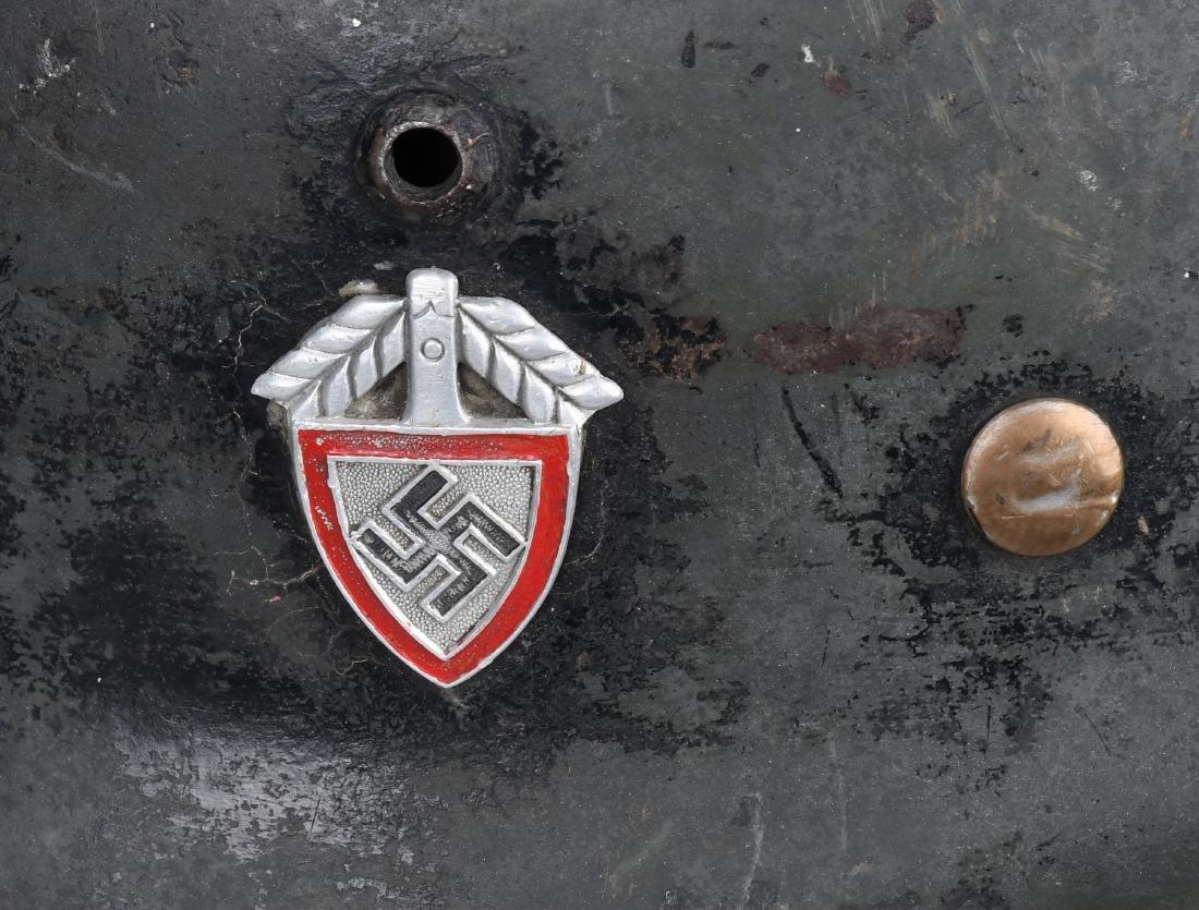 WWII NAZI GERMAN M 35 SINGLE DECAL ARMY HELMET - 4
