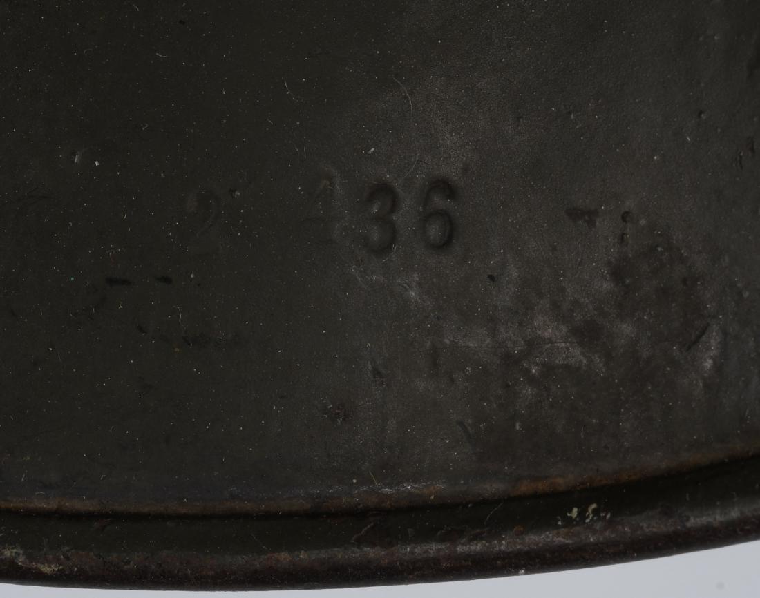 WWII NAZI GERMAN M 35 SINGLE DECAL ARMY HELMET - 6