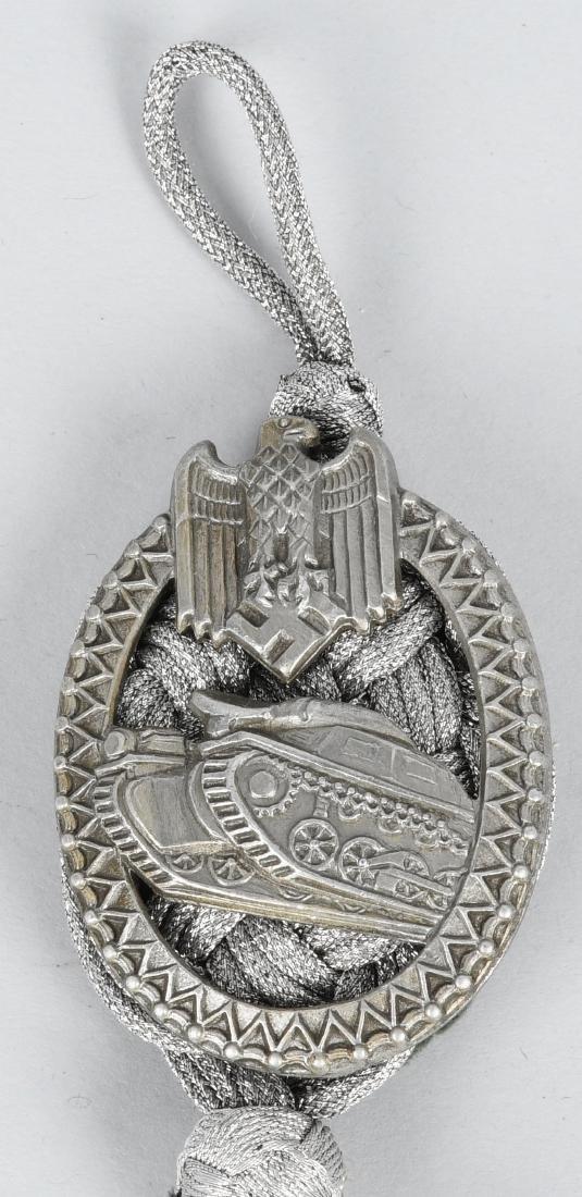 WWII NAZI GERMAN PANZER LANYARD BADGE & LANYARD