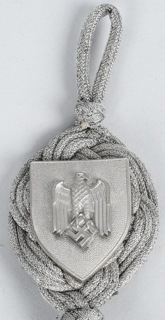 WWII NAZI GERMAN ARMY MARKSMANSHIP BADGE & LANYARD