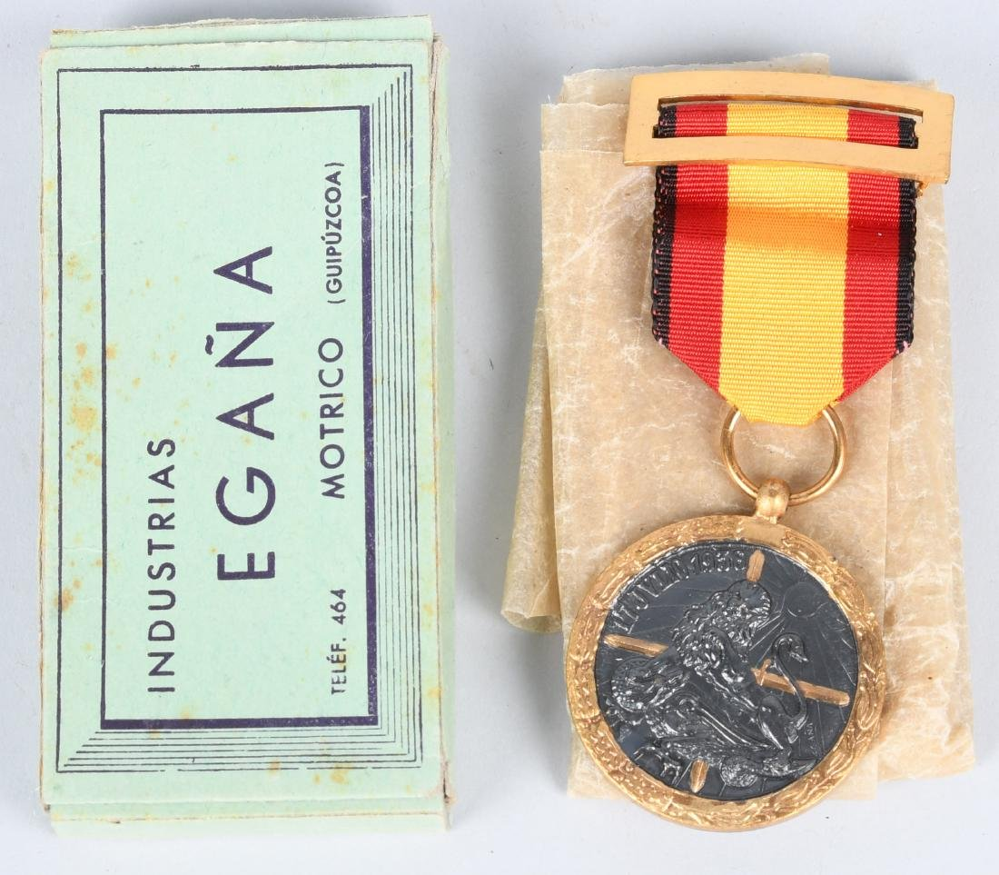 WWII BOXED 1936 SPANISH CIVIL WAR CAMPAIGN MEDAL