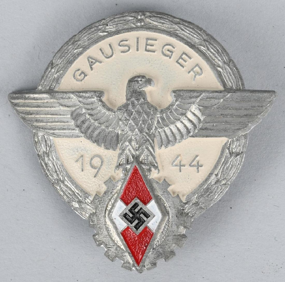 WWII NAZI 1944 HITLER YOUTH HJ GAUSIEGER BADGE