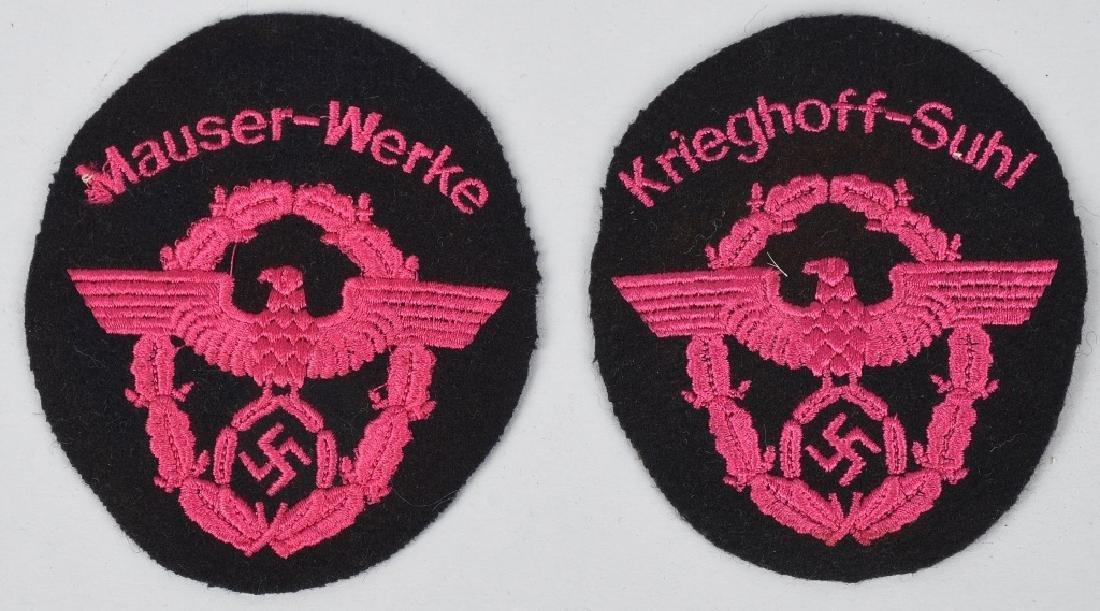 WWI KRIEGHOFF-SUHL & MAUSER-WERK FIRE POLICE BADGE
