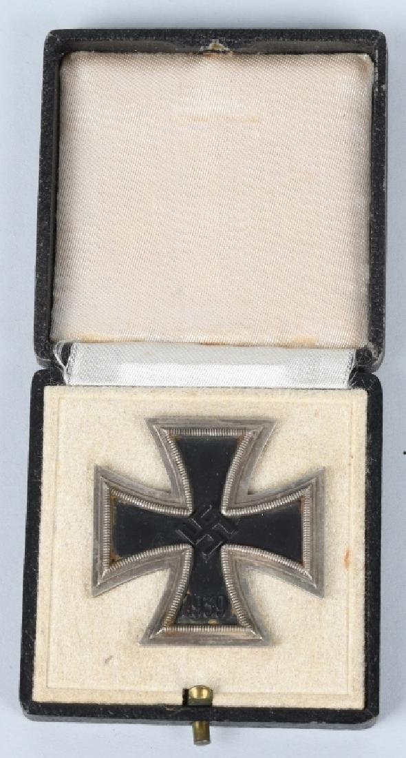 WWII NAZI GERMAN WWII CASED 1ST CLASS IRON CROSS