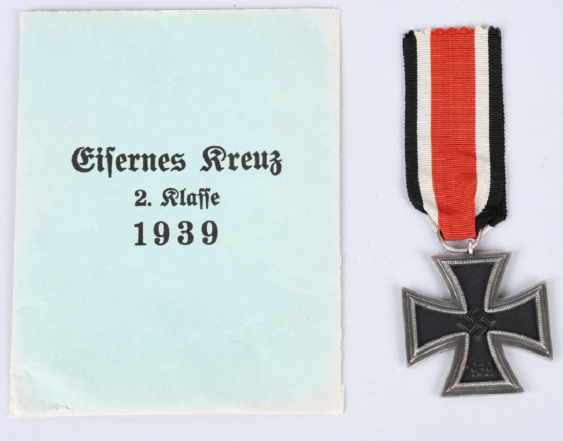 WWII NAZI GERMAN 2ND CLASS IRON CROSS W/ ENVELOPE